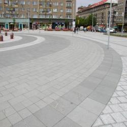 Geflammtes Kalkstein Pflaster 10 cm stark für Reihenverlegung